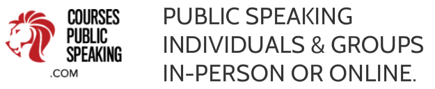 Public Speaking - Individuals and Groups. Online (Skype) or In-Person.